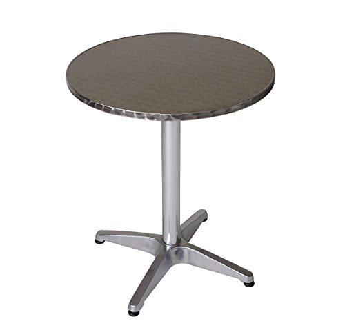 bistrotisch aus aluminium edelstahl 60cm rund - Bistrotisch aus Aluminium / Edelstahl 60cm rund
