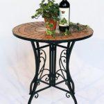 DanDiBo Tisch Mosaik Merano 12001 Gartentisch D-60 cm Metall Beistelltisch Esstisch