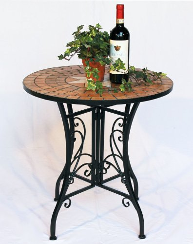 dandibo tisch mosaik merano 12001 gartentisch d 60 cm metall beistelltisch esstisch - DanDiBo Tisch Mosaik Merano 12001 Gartentisch D-60 cm Metall Beistelltisch Esstisch