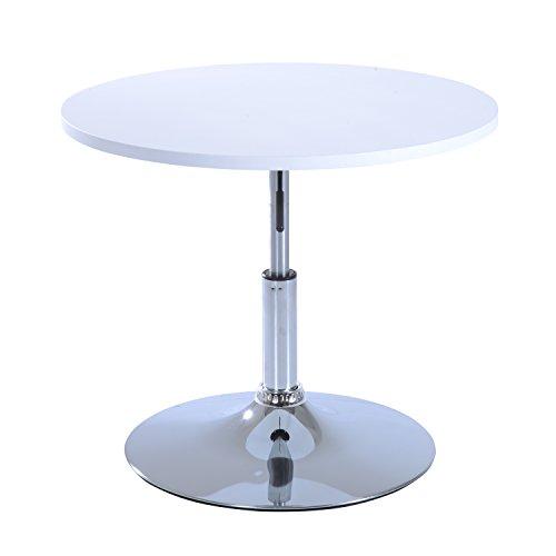 homcom beistelltisch telefontisch couchtisch tisch bistrotisch hoehenverstellbar weiss - Homcom® Beistelltisch Telefontisch Couchtisch Tisch Bistrotisch höhenverstellbar weiß