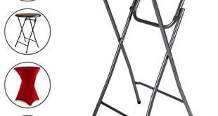Stehtisch 110 cm Partytisch Rattan Optik rund klappbar Bistrotisch Empfang Klapptisch 310x165 - Stehtisch 110 cm Partytisch Rattan-Optik rund klappbar Bistrotisch Empfang Klapptisch Kunststoff Ø 80 cm Metallgestell stabil abwaschbar schwarz braun weiß mit/ohne Husse rot weiß (Kunststoff, Weiß)